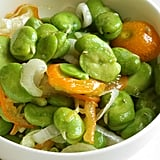 Fava Beans With Green Garlic and Kumquats