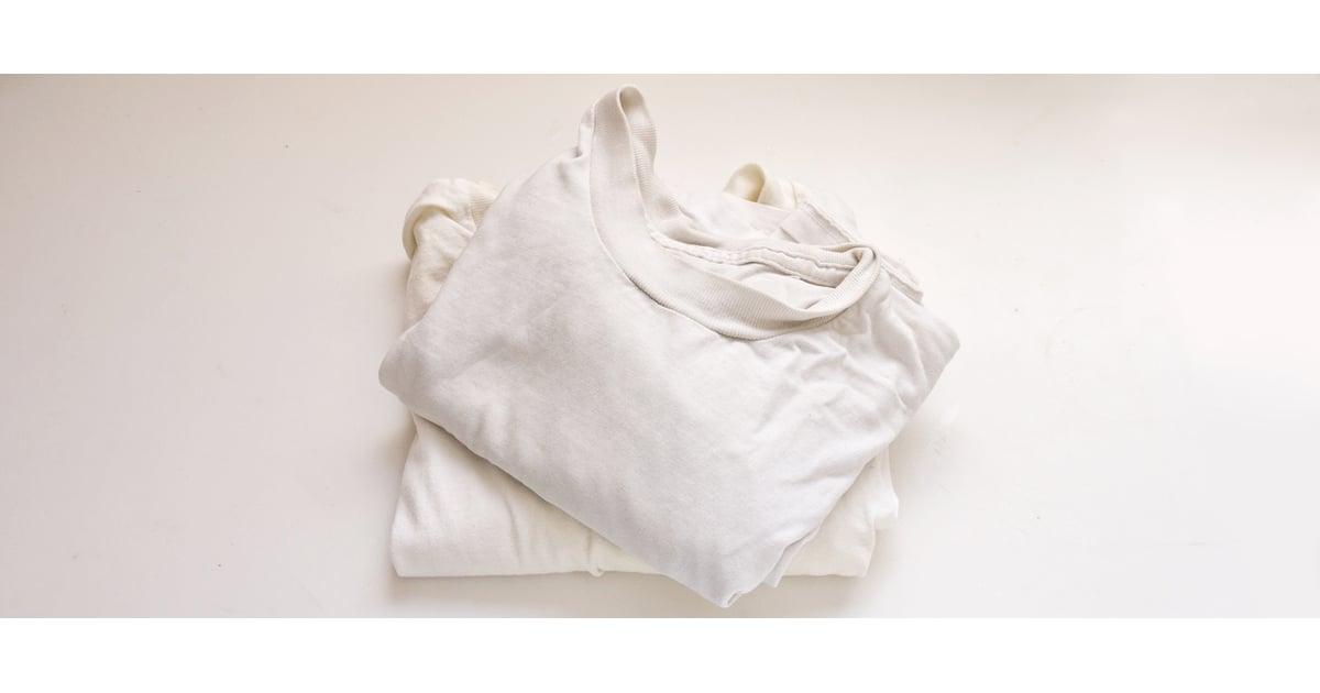 Bleach vs hydrogen peroxide popsugar smart living for Dingy white t shirts