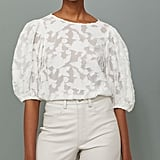 H&M Airy Balloon-sleeved Blouse