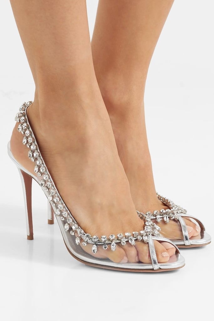 Aquazzura Temptation Patent Leather PVC Sandals