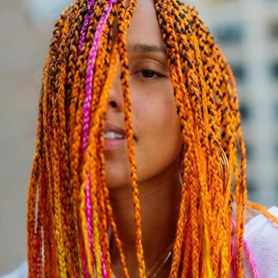 Alicia Keys Gets Neon Orange Braids