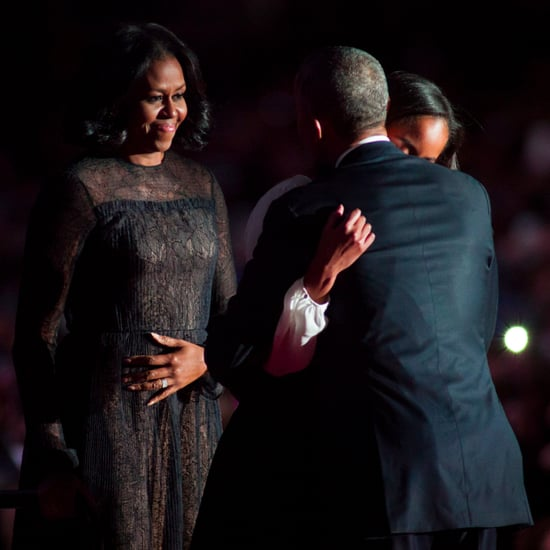 Michelle Obama Wearing Jason Wu Navy Dress