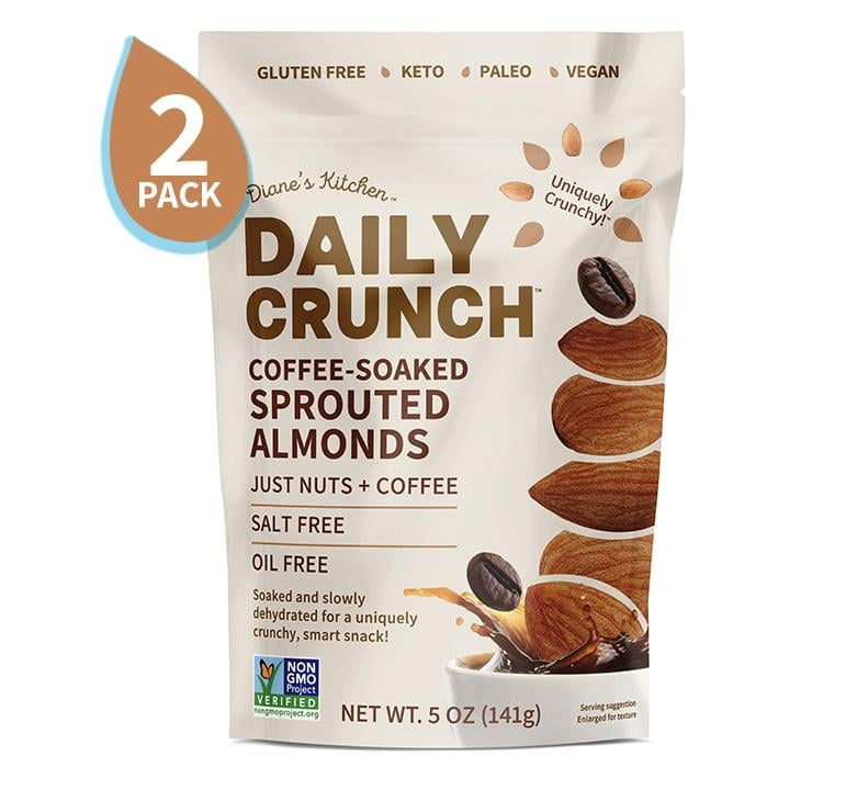 Daily Crunch Snacks Coffee-Soaked Sprouted Almonds