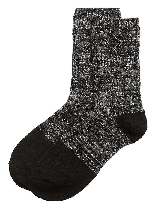 Sparkle Cozy Crew Socks