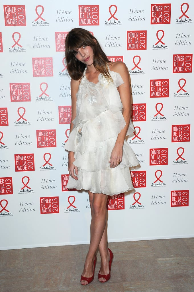 Lou Doillon took on Winter white — and a pair of gorgeous red heels — at the Sidaction Gala.