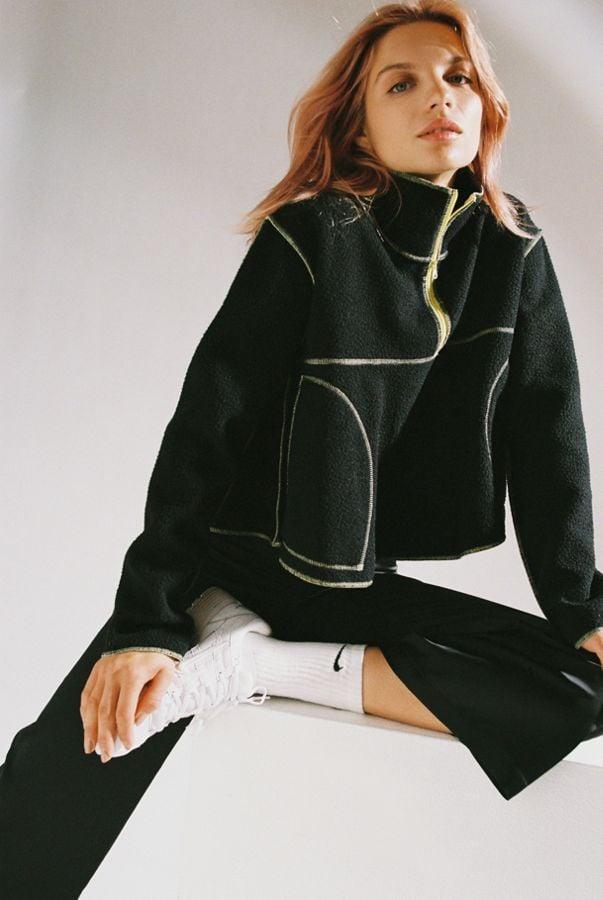 UO Posie Fleece Half-Zip Sweatshirt