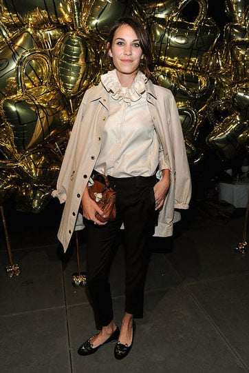 Alexa opted for a classic combo for Mulberry's chic shindig in September of 2011.