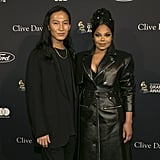Alexander Wang and Janet Jackson at Clive Davis's 2020 Pre-Grammy Gala in LA