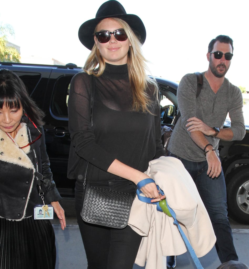 34ab3355a621 Kate Upton Wearing All-Black Outfit