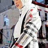 Mia Oversize Plaid Woolen Coat ($195)