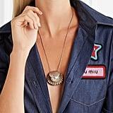 Miu Miu Silver-Tone Crystal Necklace
