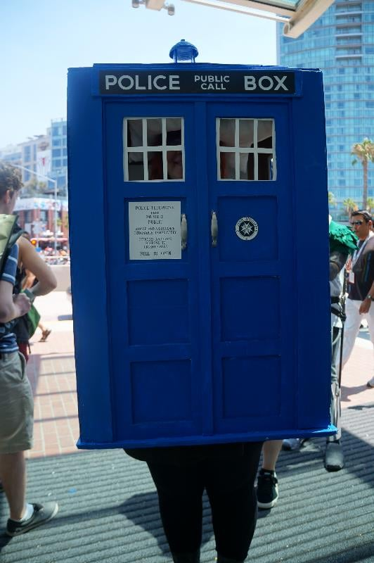 This TARDIS getup would make a great disguise.