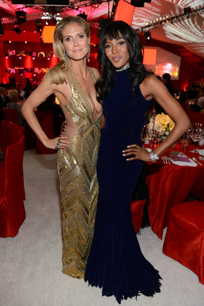 Heidi Klum and Naomi Campbell posed at Elton John's Oscar party.