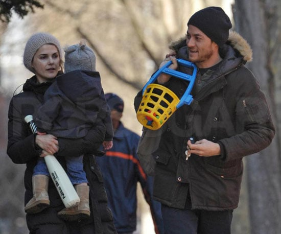 Photo of Keri Russell and Shane Deary with Their Son River Deary in NYC