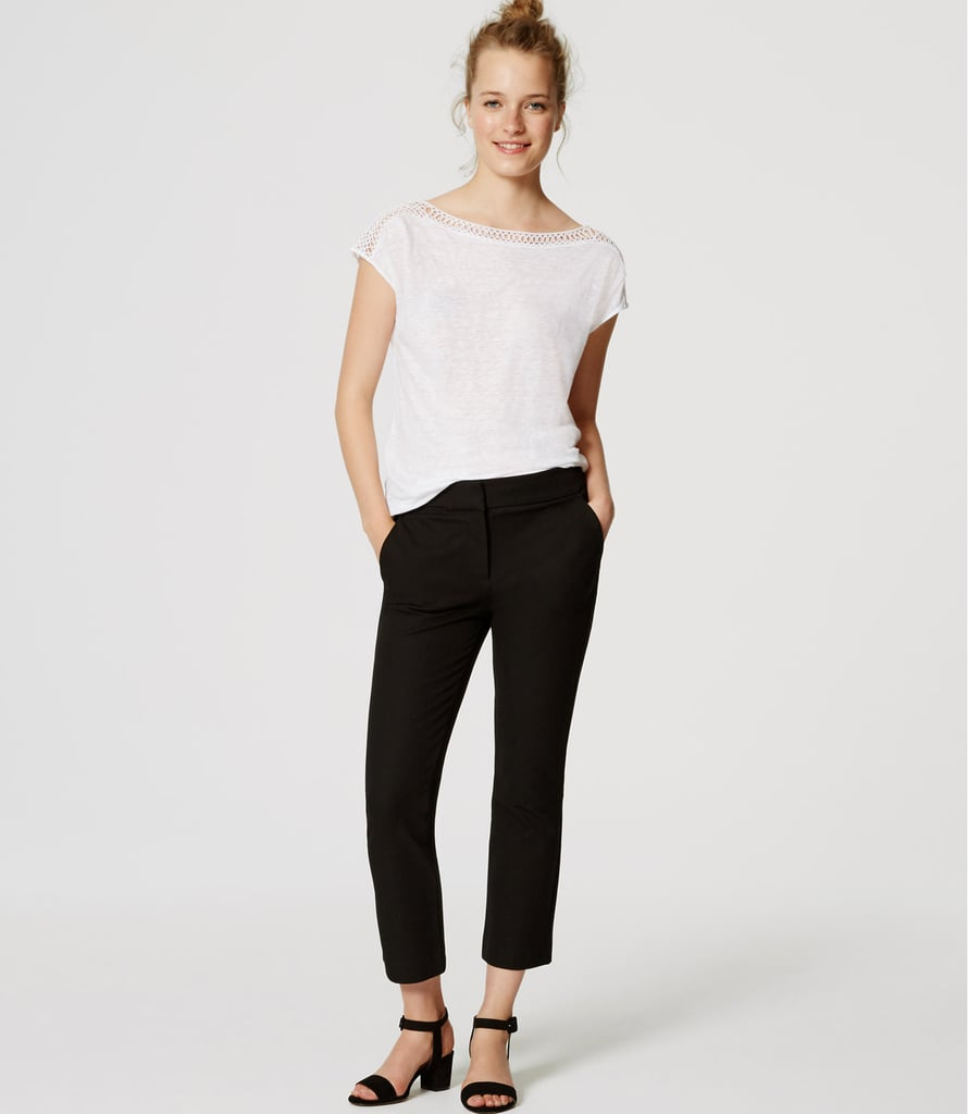 """Thankfully, my office dress code is pretty lax, but I do still love a structured pair of pants, like these cropped trousers from Loft ($70). Not only will I be pairing them with sneakers and sweatshirts like Kendall Jenner, but I'll also style them under dresses, creating a cool layered look."" — SS"