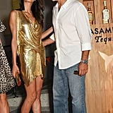 Amal's glittering gold minidress stole the spotlight when she stepped out with George.