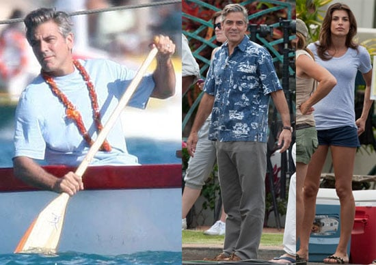 Pictures of George Clooney and Elisabetta Canalis on the Descendants Set in Hawaii