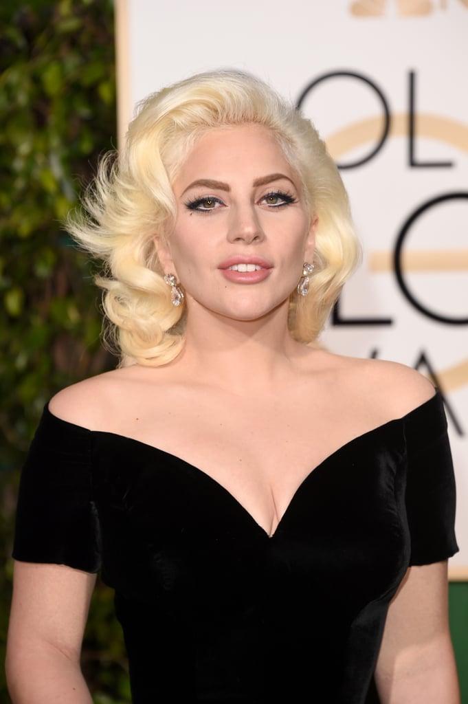 Lady Gaga at the 2016 Golden Globes