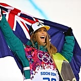Torah Bright of Australia was all smiles after winning the silver medal for the snowboard women's half-pipe event.