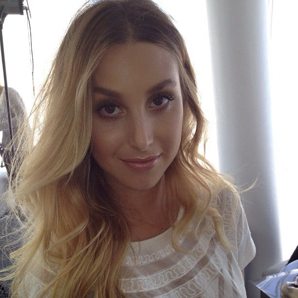 Whitney Port got ready for her shoot with Grazia Australia, with the help of makeup man Max May. Source: Instagram user Whitneyport