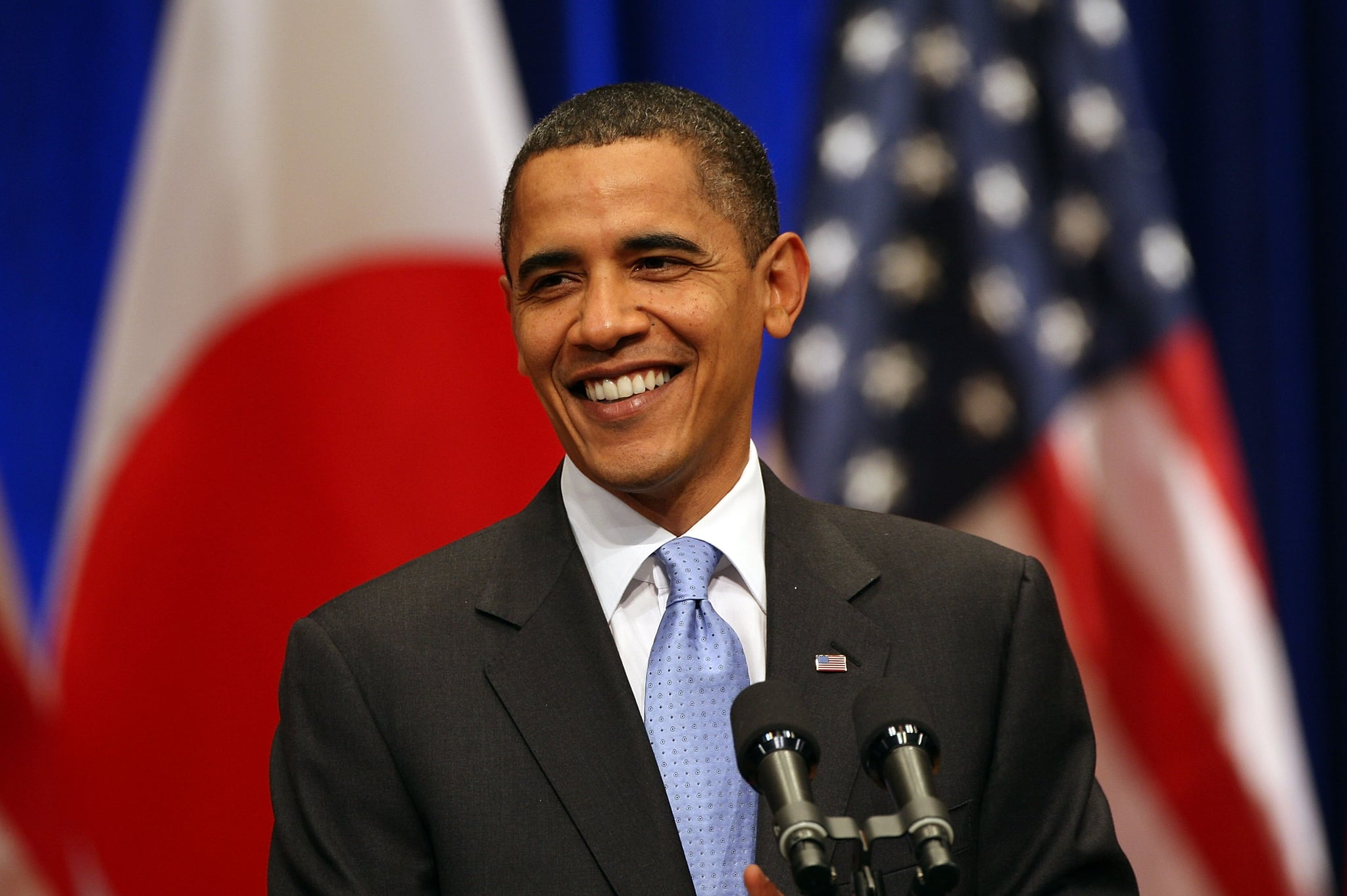 TOKYO - NOVEMBER 14:  U.S. President Barack Obama speaks on U.S./Asia policy at Suntory Hall on November 14, 2009 in Tokyo, Japan. Obama is in Japan for two days prior to attending the 17th APEC Economic Leaders' Meeting in Singapore.  (Photo by Koichi Kamoshida/Getty Images)
