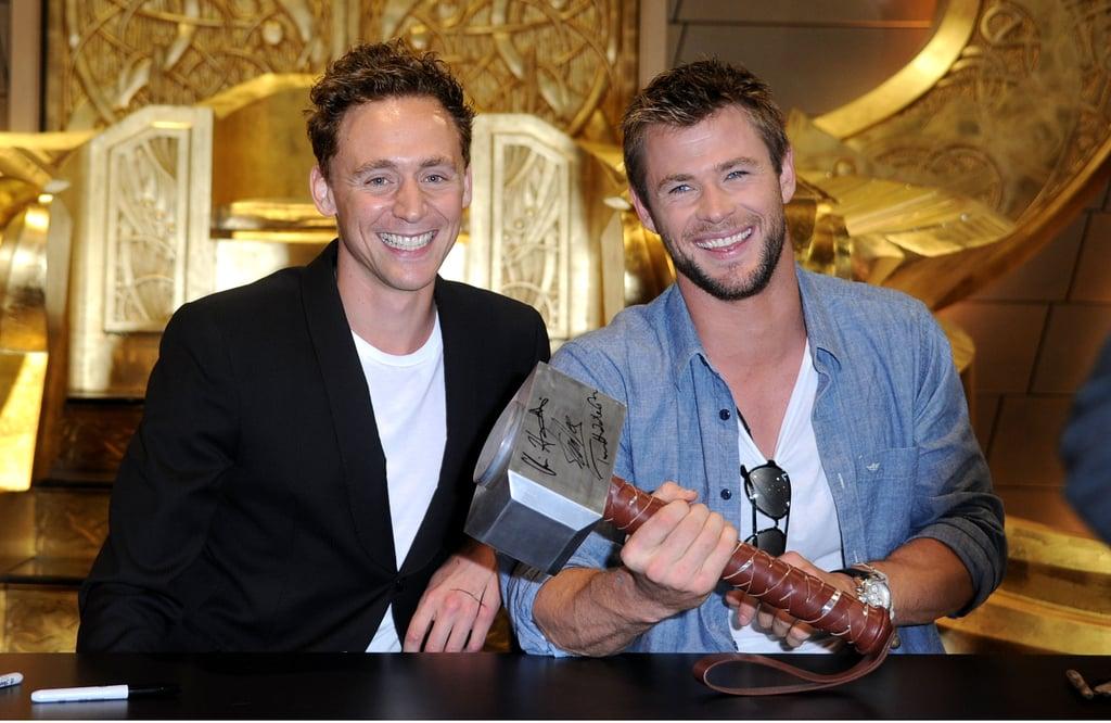 Chris Hemsworth and Tom Hiddleston Pictures | POPSUGAR Celebrity