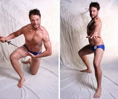 Hamish Blake Gets Shirtless and Fake Tanned For Competitive Bodybuilding on Hamish and Andy's Gap Year