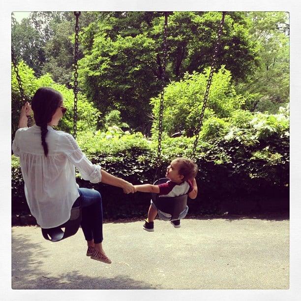 Miranda Kerr swung into Summer with her son, Flynn.  Source: Instagram user mirandakerr
