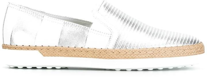Tod's Metallic Slip-On Sneakers