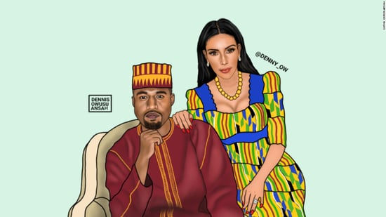 Kim and Kanye Pop art