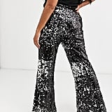 Skylar Rose Flared Pants in Sleek Sequin Two-Piece