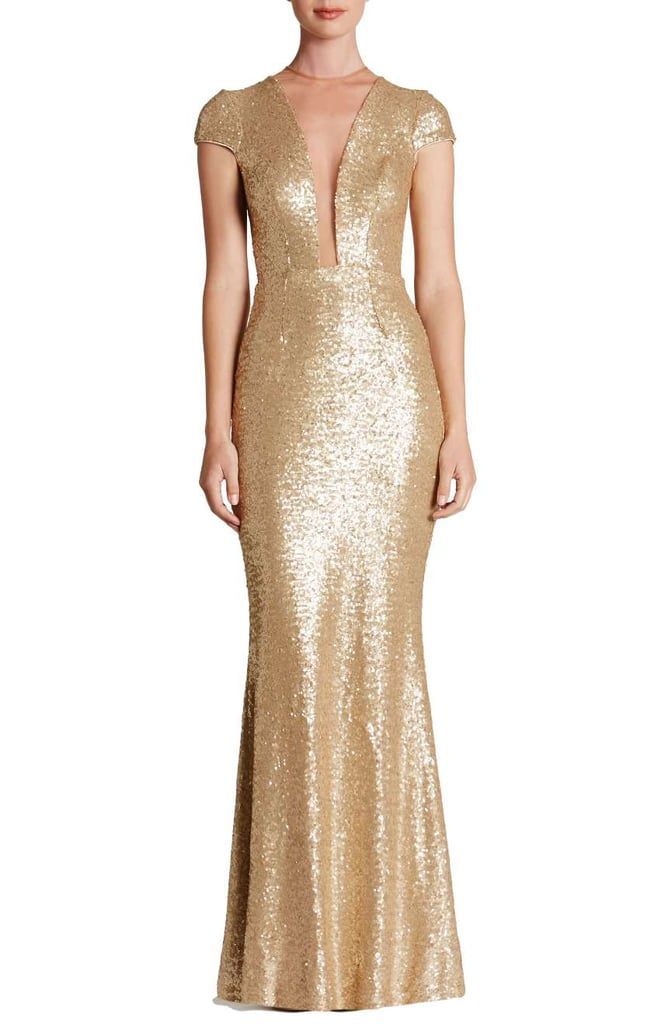 Dress the Population Michelle Sequin Gown