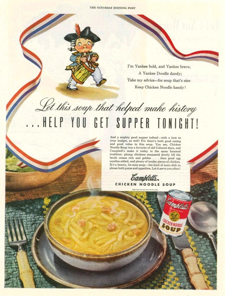 1949   campbell's chicken noodle soup vintage ads