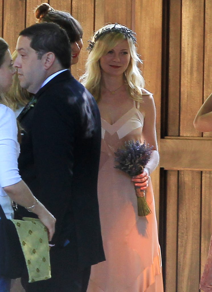 Kirsten Dunst flashed a smile.