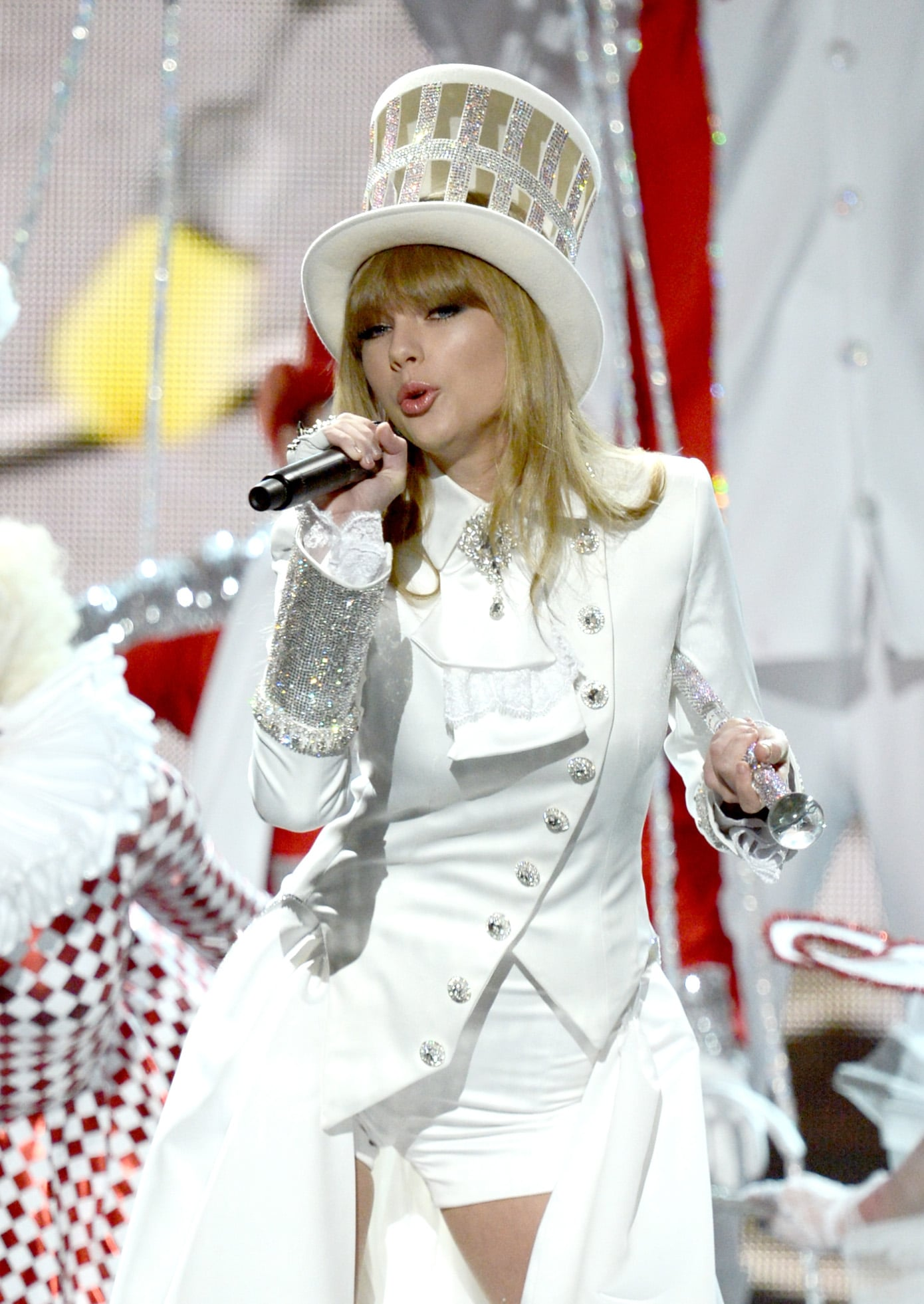 Taylor Swift performed at the Grammy Awards.