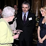 Rowan Atkinson and Gillian Anderson, 2012
