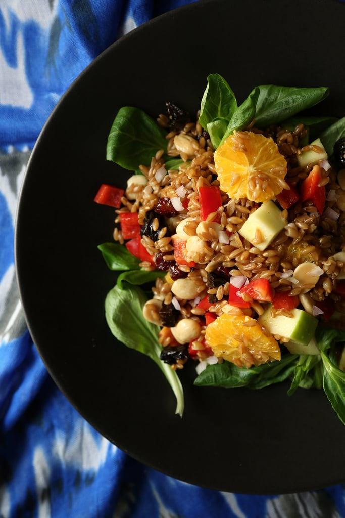 Vegan Farro Salad With Citrus Vinaigrette