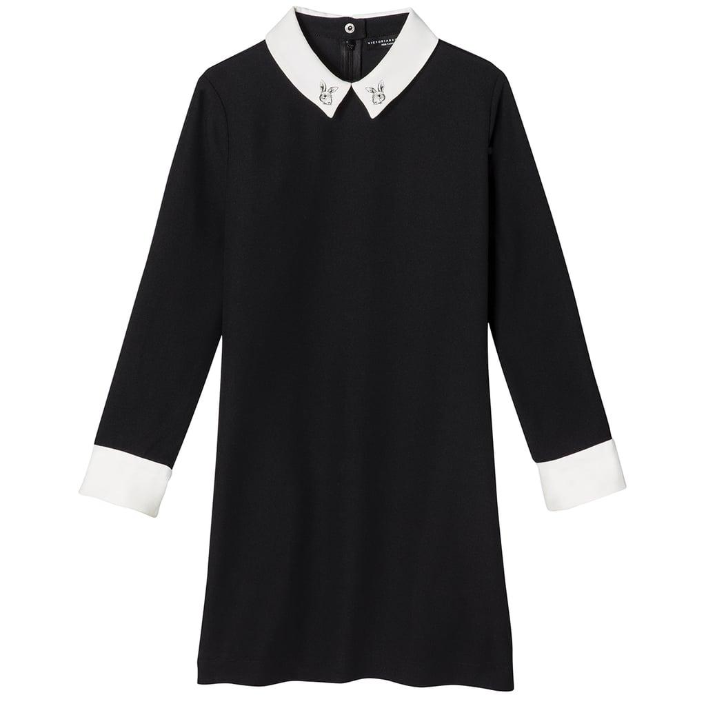 Girls' Black Collared Dress  ($25)