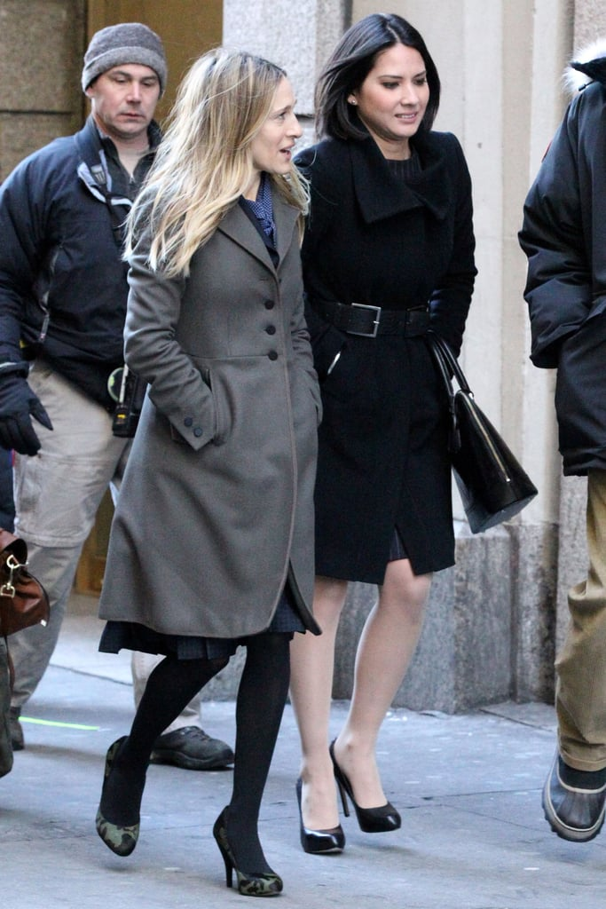 Pictures of Sarah Jessica Parker and Olivia Munn Filming I Don't Know How She Does It