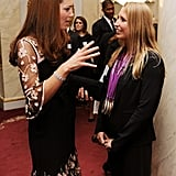 Kate Middleton chatted with a member of Team GB.
