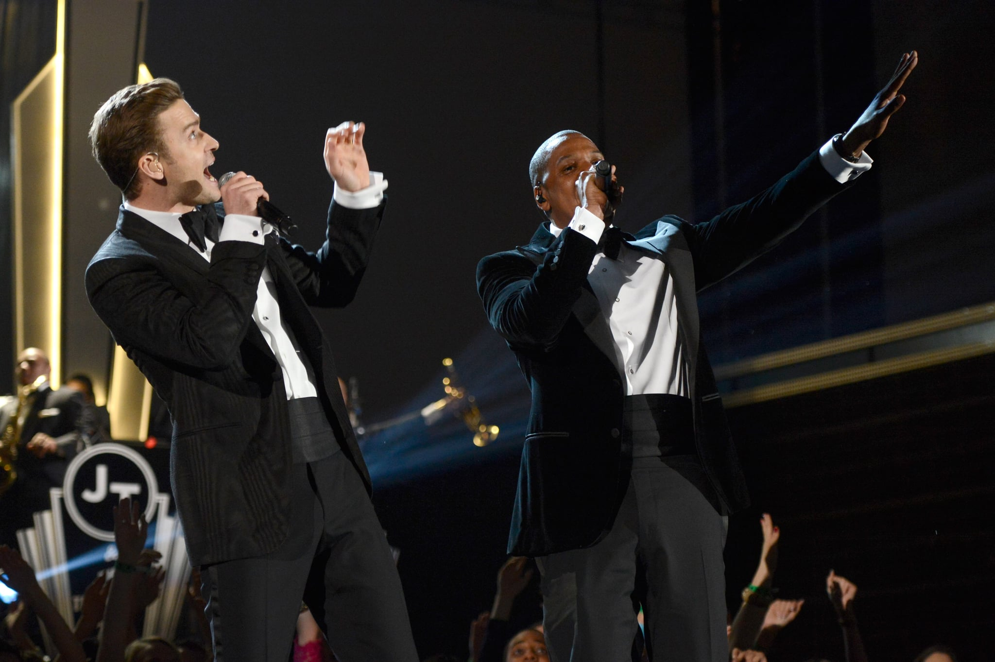 Justin Timberlake performed alongside Jay-Z.