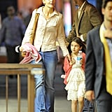 Katie Holmes and Suri Cruise went out to dinner in NYC.