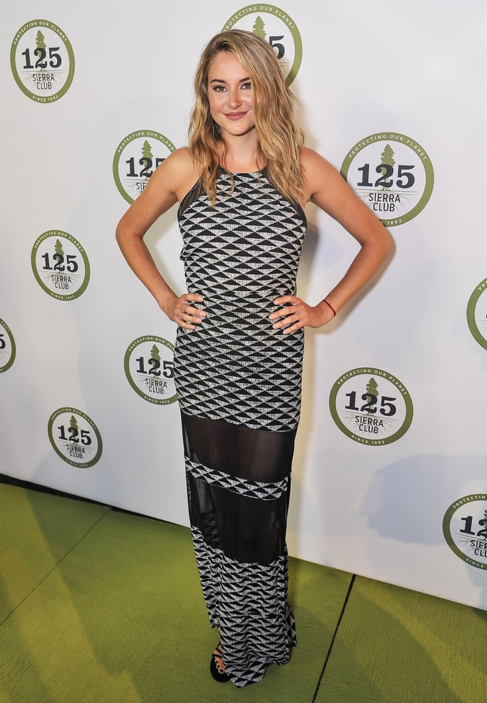 Shailene at the Sierra Club's 135th Anniversary Trail Blazers Ball