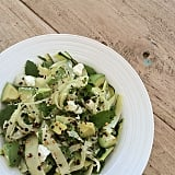 Zoodles can be served cold, room temperature, or warm. Pack a no-heat lunch of zucchini ribbons, fennel, avocado, fresh mint, and feta. You'll feel like you're indulging in pasta, but this lunch is more of a salad, and there's no dressing required.