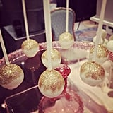 Glitter cake pops at the San Francisco Wedding Fair.