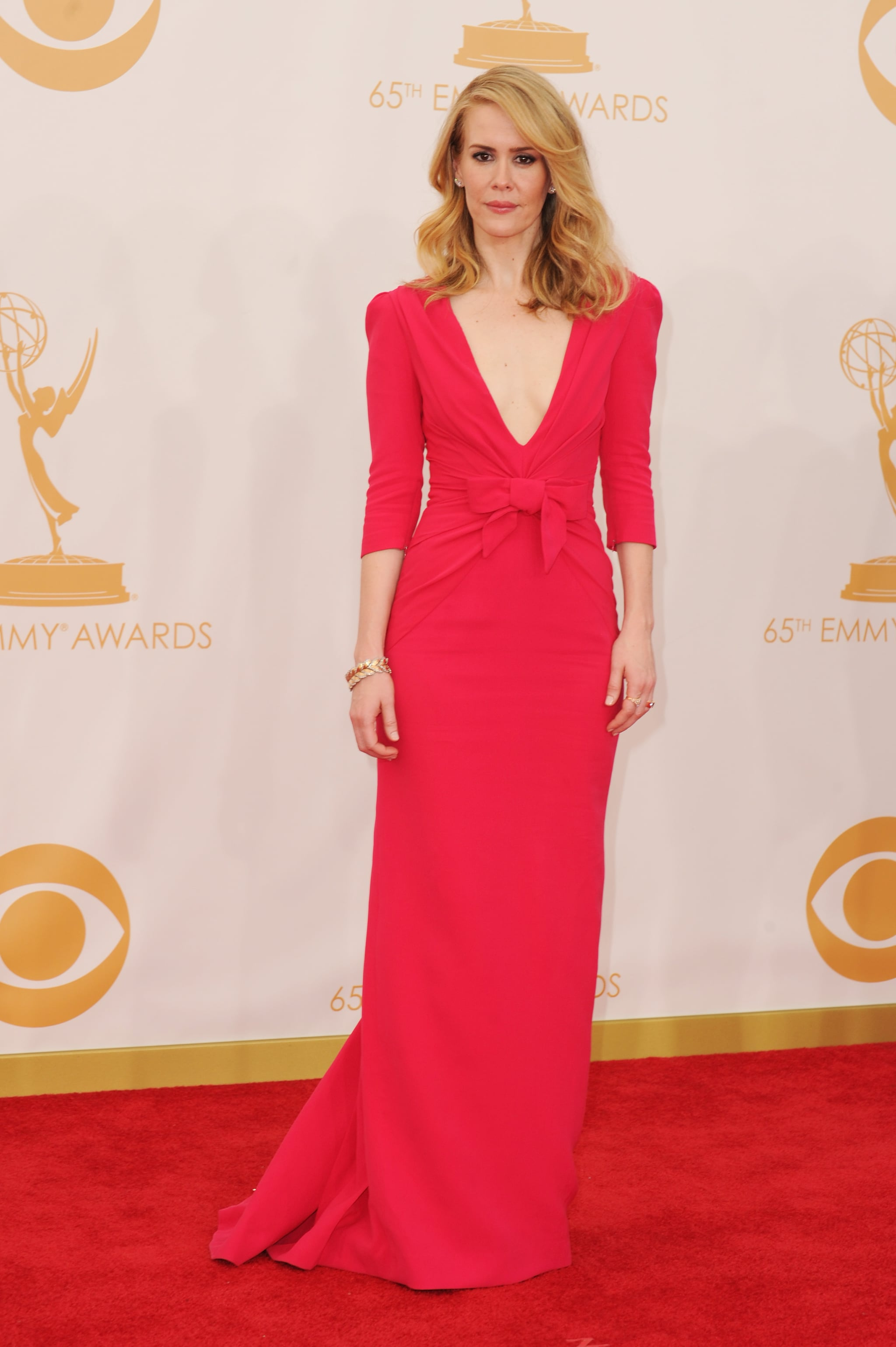 Sarah Paulson attended the Emmy Awards.