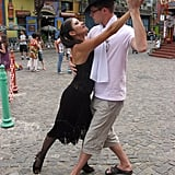 Dance Tango in the Streets of Caminito in Buenos Aires, Argentina