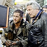 Hardy and director George Miller on the set.