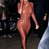 Kim Styled It With Velvet Booties