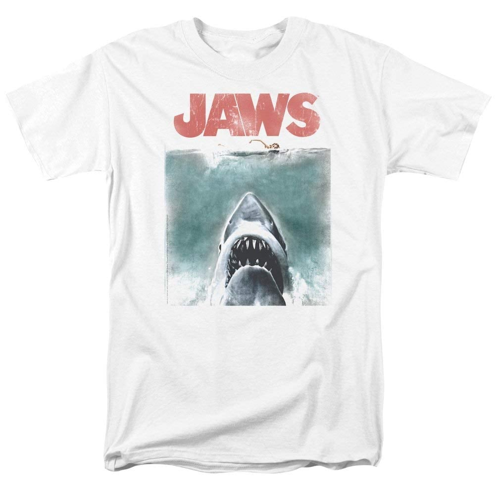Jaws 1975 Shark Thriller Spielberg Movie Poster T-Shirt